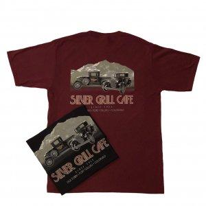 Model A T-Shirt Color: Maroon or Black