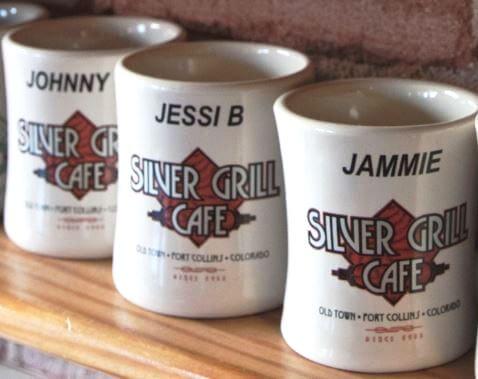 Personalized Silver Grill Ceramic Mug