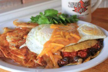 Stacked Vegetarian Huevos Rancheros