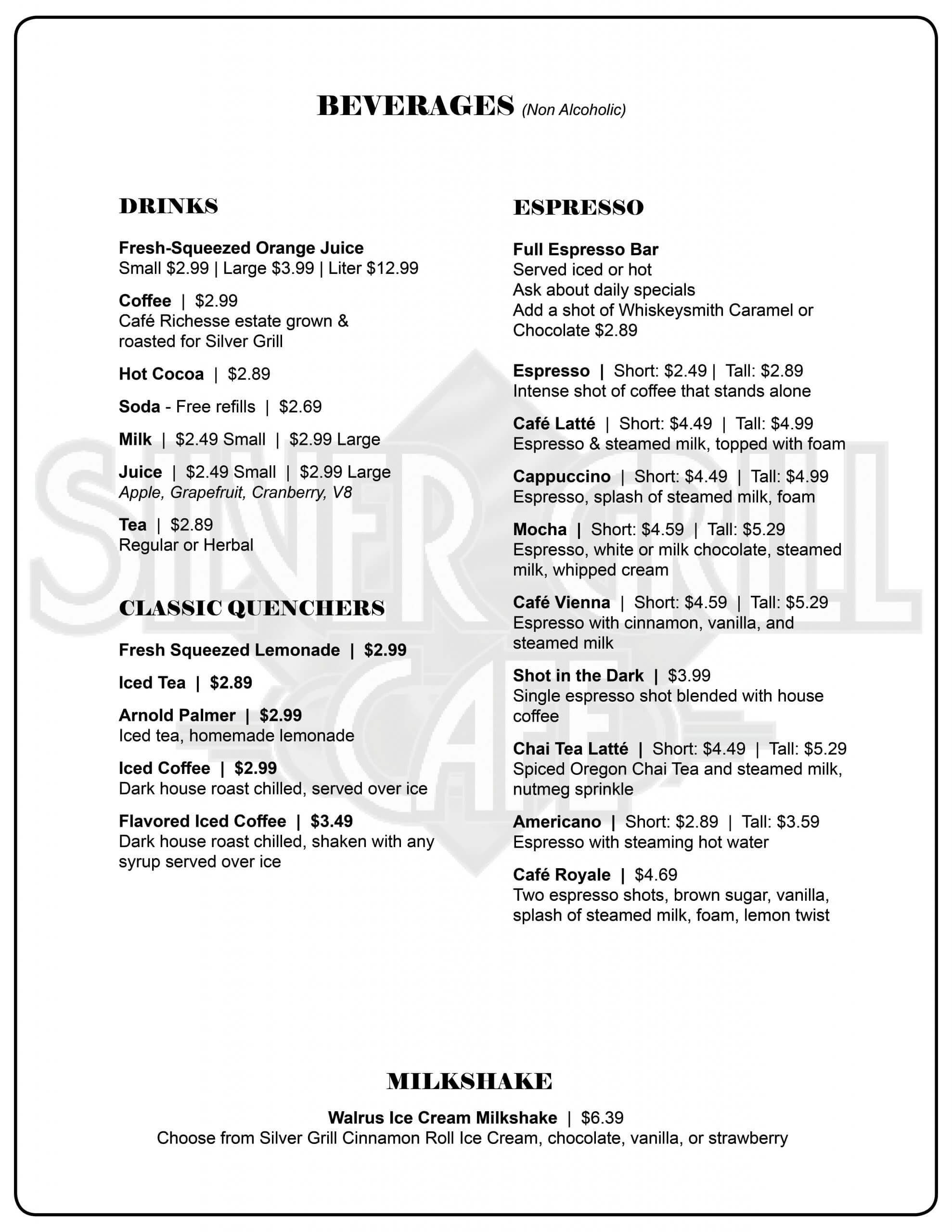 Silver Grill 8.5x11 2 sided October Drink Updates PAGE 1